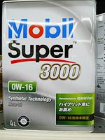 モービル スーパー3000 0W-16 SN 化学合成油 4L