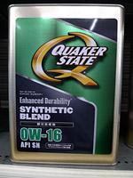 クエーカーステート エンバースト デュラビリティ 0W-16 SN 化学合成油 4L